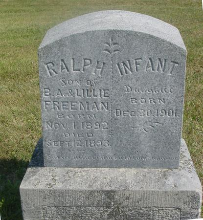 FREEMAN, RALPH & INFANT - Ida County, Iowa | RALPH & INFANT FREEMAN