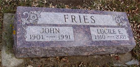 FRIES, JOHN & LUCILE - Ida County, Iowa | JOHN & LUCILE FRIES