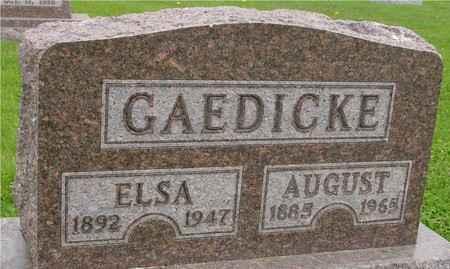 GAEDICKE, AUGUST & ELSA - Ida County, Iowa | AUGUST & ELSA GAEDICKE