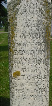 GAYLORD, ANN - Ida County, Iowa | ANN GAYLORD