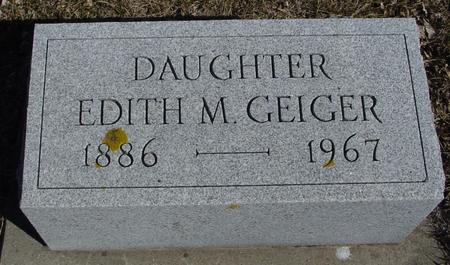 GEIGER, EDITH M. - Ida County, Iowa | EDITH M. GEIGER