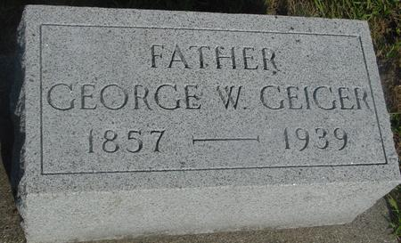 GEIGER, GEORGE W. - Ida County, Iowa | GEORGE W. GEIGER