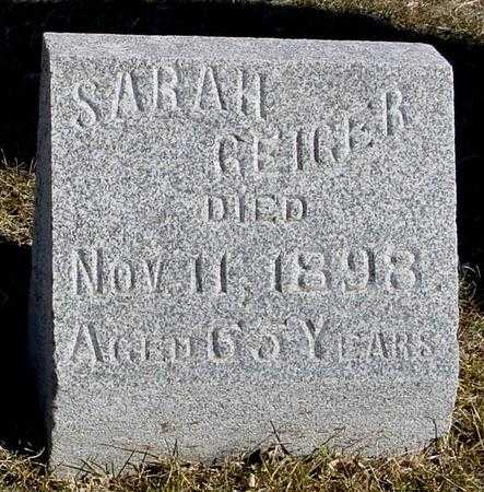 GEIGER, SARAH - Ida County, Iowa | SARAH GEIGER