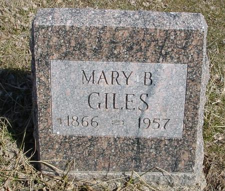GILES, MARY B. - Ida County, Iowa | MARY B. GILES