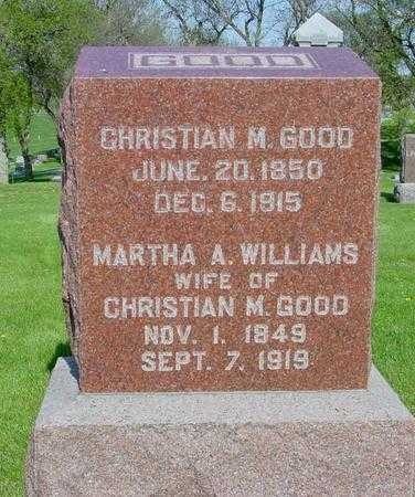 WILLIAMS GOOD, MARTHA A. - Ida County, Iowa | MARTHA A. WILLIAMS GOOD