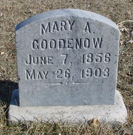 GOODENOW, MARY A. - Ida County, Iowa | MARY A. GOODENOW