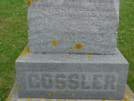 GOSSLER, CHARLOTTE - Ida County, Iowa | CHARLOTTE GOSSLER