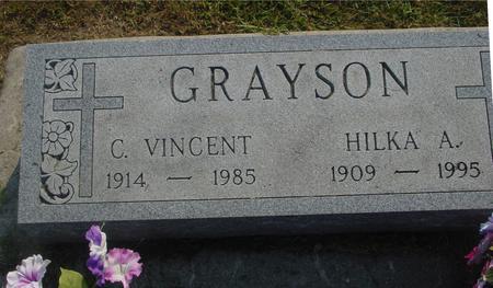 GRAYSON, C. VINCENT & HILKA - Ida County, Iowa | C. VINCENT & HILKA GRAYSON