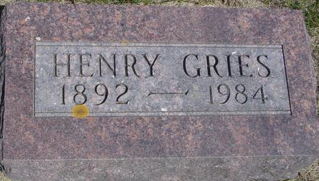 GRIES, HENRY - Ida County, Iowa | HENRY GRIES