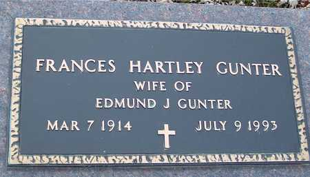 HARTLEY GUNTER, FRANCES - Ida County, Iowa | FRANCES HARTLEY GUNTER