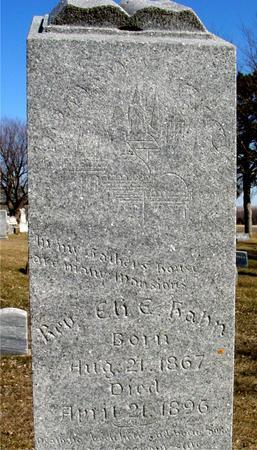 HAHN, REV. ELI E. - Ida County, Iowa | REV. ELI E. HAHN