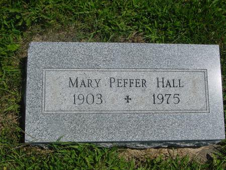 PEFFER HALL, MARY - Ida County, Iowa | MARY PEFFER HALL