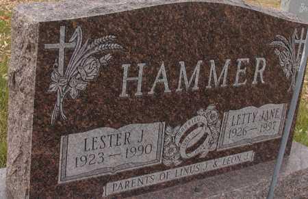 HAMMER, LESTER J. & LETTY JANE - Ida County, Iowa | LESTER J. & LETTY JANE HAMMER