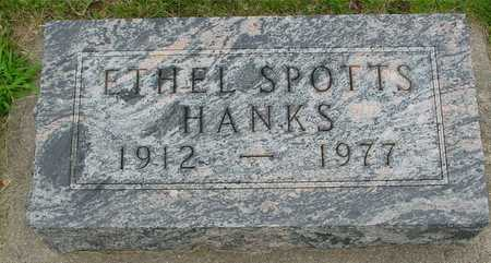 SPOTTS HANKS, ETHEL - Ida County, Iowa | ETHEL SPOTTS HANKS