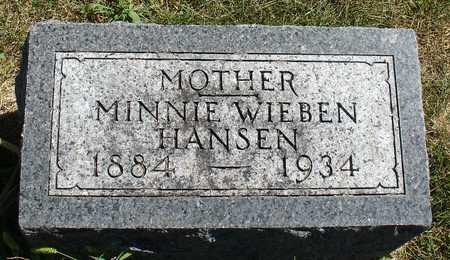 WIEBEN HANSEN, MINNIE - Ida County, Iowa | MINNIE WIEBEN HANSEN