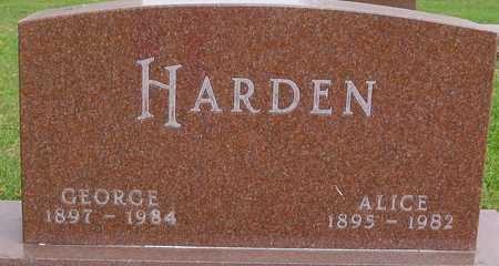 HARDEN, GEORGE & ALICE - Ida County, Iowa   GEORGE & ALICE HARDEN