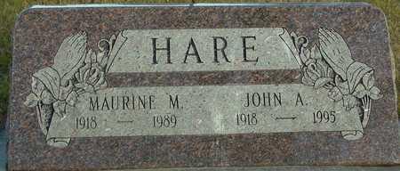 HARE, JOHN A. & MAURINE - Ida County, Iowa | JOHN A. & MAURINE HARE