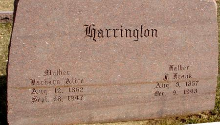 HARRINGTON, J. FRANK & BARBARA - Ida County, Iowa | J. FRANK & BARBARA HARRINGTON