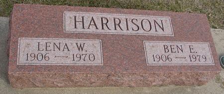 HARRISON, BEN E. & LENA - Ida County, Iowa | BEN E. & LENA HARRISON