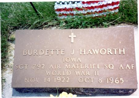 HAWORTH, BURDETTE J. - Ida County, Iowa | BURDETTE J. HAWORTH