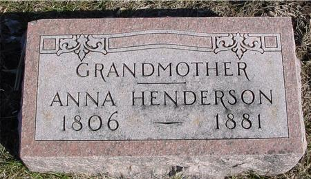 HENDERSON, ANNA - Ida County, Iowa | ANNA HENDERSON