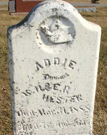 HESTER, ADDIE - Ida County, Iowa | ADDIE HESTER
