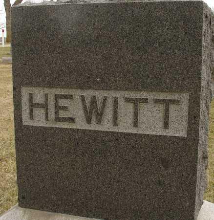 HEWITT, FAMILY MARKER - Ida County, Iowa | FAMILY MARKER HEWITT