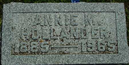 HOLLANDER, ANNIE M. - Ida County, Iowa   ANNIE M. HOLLANDER