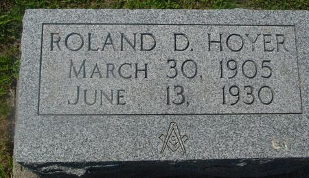 HOYER, ROLAND D. - Ida County, Iowa | ROLAND D. HOYER