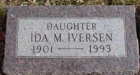 IVERSEN, IDA M. - Ida County, Iowa | IDA M. IVERSEN