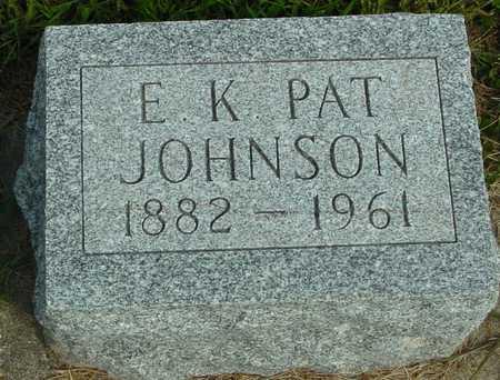 JOHNSON, E. K. PAT - Ida County, Iowa | E. K. PAT JOHNSON