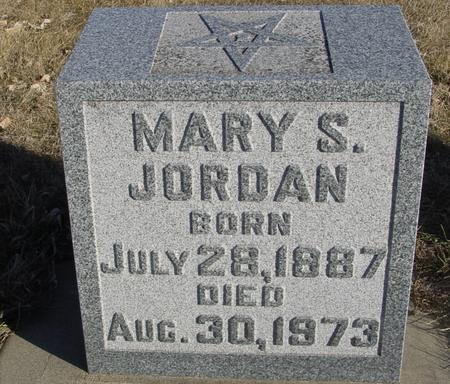JORDAN, MARY S. - Ida County, Iowa | MARY S. JORDAN