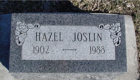 JOSLIN, HAZEL - Ida County, Iowa | HAZEL JOSLIN
