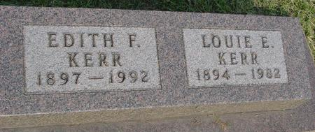 KERR, EDITH F. - Ida County, Iowa | EDITH F. KERR