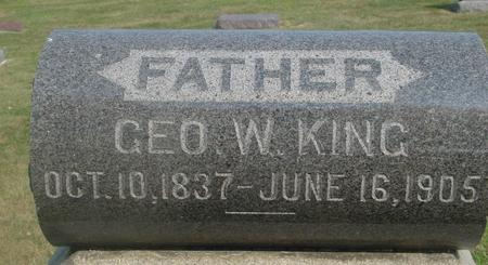KING, GEORGE W. - Ida County, Iowa | GEORGE W. KING