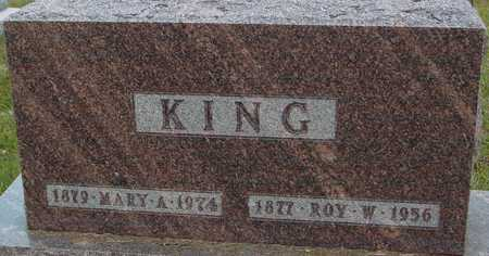 KING, ROY & MARY A. - Ida County, Iowa | ROY & MARY A. KING