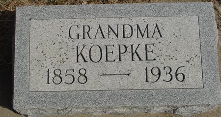 KOEPKE, GRANDMA - Ida County, Iowa | GRANDMA KOEPKE