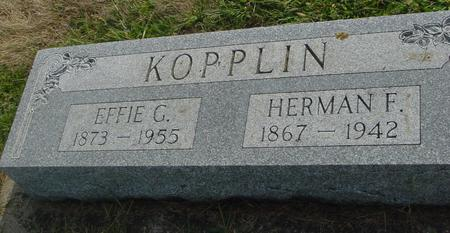 KOPPLIN, HERMAN & EFFIE - Ida County, Iowa | HERMAN & EFFIE KOPPLIN