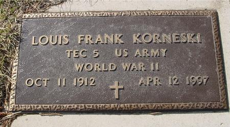 KORNESKI, LOUIS FRANK - Ida County, Iowa | LOUIS FRANK KORNESKI