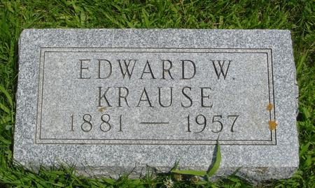 KRAUSE, EDWARD W. - Ida County, Iowa | EDWARD W. KRAUSE
