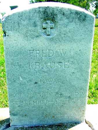 KRAUSE, FRED W. - Ida County, Iowa | FRED W. KRAUSE