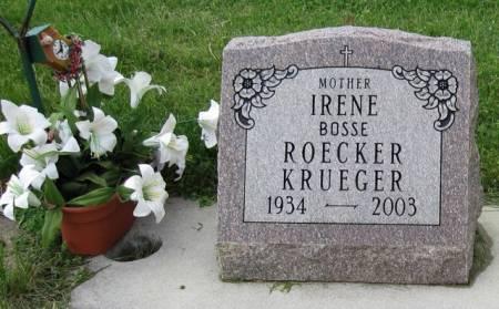 BOSSE KRUEGER, IRENE - Ida County, Iowa | IRENE BOSSE KRUEGER