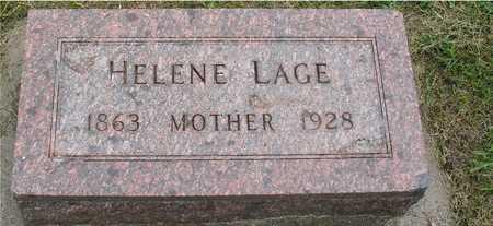 LAGE, HELENE - Ida County, Iowa | HELENE LAGE