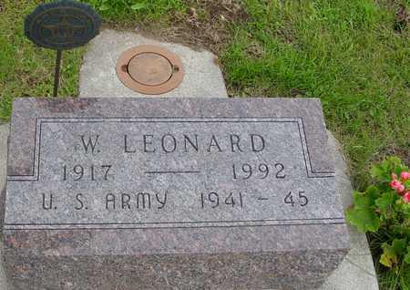 LEONARD, W. - Ida County, Iowa | W. LEONARD