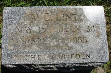 LINT, M. C. - Ida County, Iowa | M. C. LINT