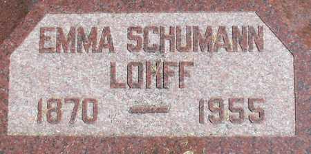 SCHUMANN LOHFF, EMMA - Ida County, Iowa | EMMA SCHUMANN LOHFF