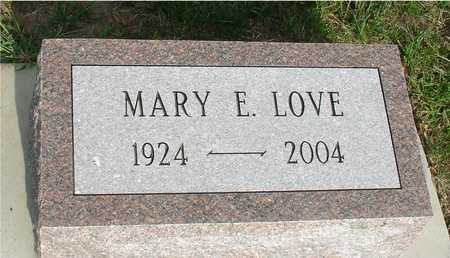 LOVE, MARY E. - Ida County, Iowa | MARY E. LOVE