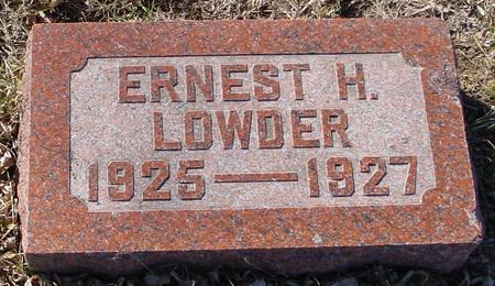 LOWDER, ERNEST H. - Ida County, Iowa | ERNEST H. LOWDER