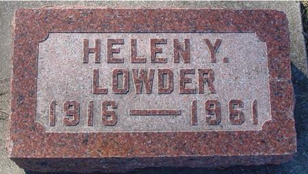 LOWDER, HELEN Y. - Ida County, Iowa | HELEN Y. LOWDER