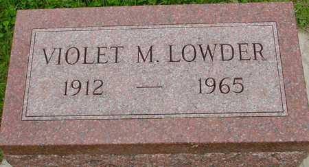 LOWDER, VIOLET M. - Ida County, Iowa | VIOLET M. LOWDER